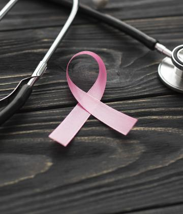 Breast cancer ribbon stethoscope